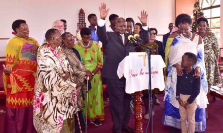 President Museveni and Wife Janet Congregate for Christmas