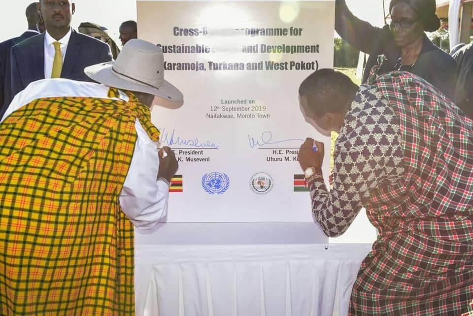 President Museveni and Uhuru Kenyatta  Sign Deal to End Karamoja-Turkana Border Wrangles
